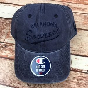 Champion Accessories - OU Oklahoma Sooners Blue Dad Strap Baseball Hat 5d5209134bb8
